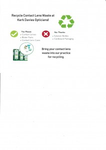 Contact lens recycling